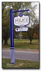 Stratford Police Department Sign